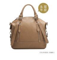High quality dudu handbag  Double chain Series Leather Tote Shoulder Handbag Satchel camel adjustable