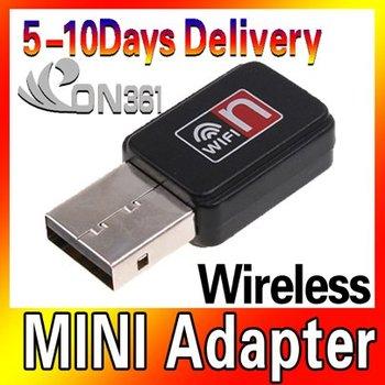 Mini 150 M USB WiFi del LAN 802.11 n / g / b adaptador alta velocidad conexión a Internet