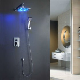 30% OFF 8'' inch bathroom bath square concealed rain shower mixer set A-shower-5004