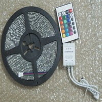 3528 RGB SMD 5M 300 LED Strip Waterproof +24 Key IR Remote