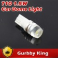 New design Interior led car bulbs lens t10 led W5W 194 lights 1.5w 12v dc cool white  10pcs