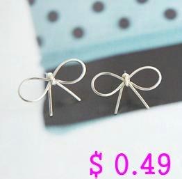Min.order is $10 (mix order) Fashion Earring.Metal Knot Stud Earrings Simple Earring Korean Style Free shipping Ke006