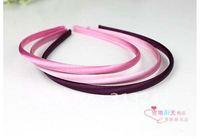 10mm Simple Fresh Color Fashion Row Satin Ribbon Covered DIY Headbands / Hairbands