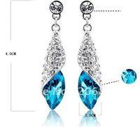 Hot Sale Full Rhinestone Crystal Pendant Earrings Fashion Earrings