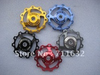 Free shipping wholesale price 5 pcs Jockey Wheel for Rear Derailleur Pulley 11T Mix-color
