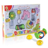 Baby fun toy 6 sets rattles suit