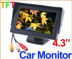 "Car Rearview Monitor 4.3"" Color TFT LCD Works With DVD/serveillance camera/STB/Satellite Receiver(China (Mainland))"