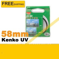 Free shipping 10pcs/lot 58mm Kenko UV Filter 58mm Filter for Canon Nikon Sony