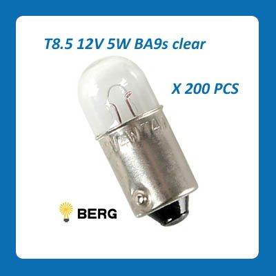 200 PCS * Auto MINI bulb T8.5 12V 5W BA9s, Quality guarantee, Fast delivery, Paper box packing(China (Mainland))