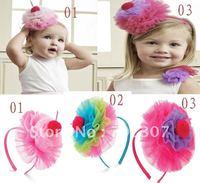 Детский аксессуар для волос New Arrive! 50pcs/lot baby girl wig headband sweet Knit hairband children fashion headwear cute hairwear good accessories YT-030