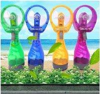 Wholesale - - 5pcs Water Spray Fan (blue green yellow purple)