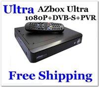 Ultra AZBOX Ultra DVB-S Satellite Receiver Linux 1080P Full HD PVR Blind Scan DHL Free Shipping 20pcs