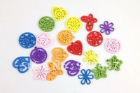 60PCS Lots of Mixed colours wooden Charms #20934