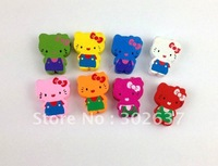 60PCS Mixed colours wooden Cat  Beads #20766