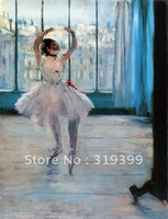 Oil Painting Reproduction,dancer posing By Edgar Degas,Free Shipping,100% handmade,ED020