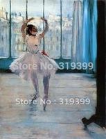 Oil Painting Reproduction,dancer posing By Edgar Degas,Free Shipping,100% handmade,ED020