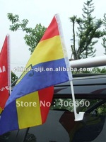 polyester natioan flag printed car flag for Olympic supporting