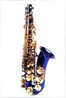 Gold tone saxophone alto saxophone mouthpiece Eb alto saxophone/wind/pipe/instrument brass blue paint color