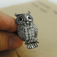 R1101 Fashion Restore ancient ways fashion owl ring Free shipping