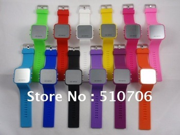 DHL/EMS Free Shipping+12 Colors For Options,Fashion and high quality silicone jelly Led watch,Design A,200pcs/Lot