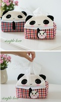 Free shipping Car Accessories Car Tissue Box/Cute Cartoon Panda&Pink Hello Kitty Cat Cartoon Plush /Low Price High Quality!!!