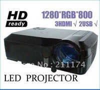 Free shipping &Hot selling led verhead projector perfect for home theater with native 1280*800 1080p support through HDMI