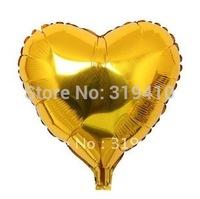 18 inch foil Heart balloon metallic balloons helium balloons gold