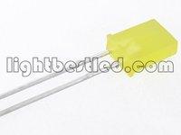 2x5x7 Rectangular type LED,Yellow Color, 580~595nm,Yellow Diffused Lens,1.9~2.3V,500~1000mcd,120deg