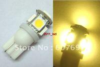 10x T10 194 168 W5W 921 Warm White BULB 5SMD LED LIGHT