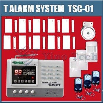 3pcs Auto-dial Home Burglar Alarm System LED wireless alarm system vioce prompt security alarm systemsTSC-01