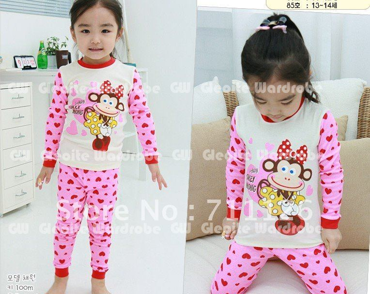 Wholesale boy's long sleeve Pajamas set, 12set/lot (clothes+pants),sleepwear ,night wear/night gown 3-12 years