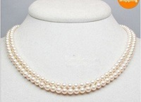 """Wedding White 5.5mm 16-17"""" AAA Akoya Pearls Priness Necklace 14k Free Ship"""