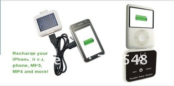 1200mAh battery Solar USB Universal Power Charger For iPhone 3G 4G MP3 MP4 PSP - free shipping