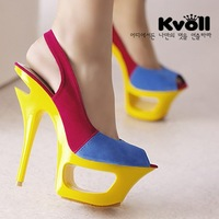 Free shipping Kvoll hot selling sexy high heels shoes sandals 2 colors fashion women platform sandal dilys drop ship store 3468
