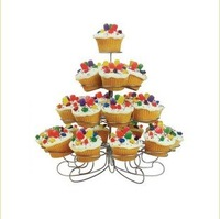 New Cupcake Stand Tree Holder Muffin Serving Birthday Cake 23 Cup Party 4 Tier