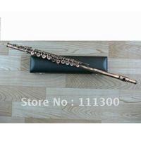 Wholesale Antique Brass finish flute Off set G Closed Hole Low C Flute with case Professional Woodwind Flute