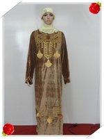 Muslim gown Saudi Arab islamic women's dress with female Muslim female robe s110