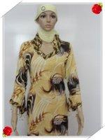 Muslim gown Saudi Arab islamic women's dress with female Muslim female robe s435