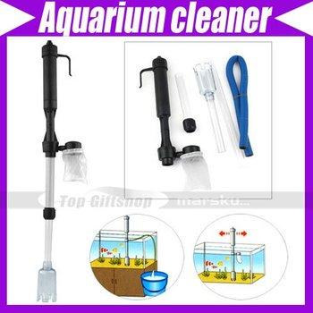 Aquarium Fish Tank Gravel Filter cleaner Water Pump Vacuum Cleaner Battery Syphon #228