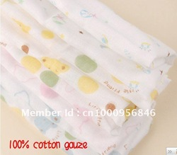 Gauze Baby bath towel,baby hankerchif,Saliva towel -,baby Facecloth washcloth body towel(China (Mainland))