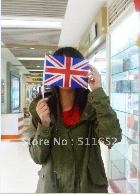 Wholesale polyester hand flag banner 14x21cm 400pcs/lot supernational for the Olympic Games Fast delivery free shipping(China (Mainland))