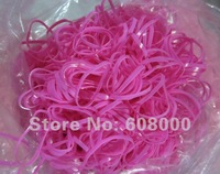 free shipping 5000pcs/lot light pink Braiding Poly Elastic Rubber Bands Horse Hair Braid Bow, For Pencil Grips,girls Hair Braids
