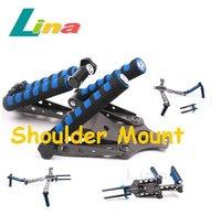 DSLR Rig Movie Kit Shoulder Mount Stabilizer + Connector For Follow Focus 5D II