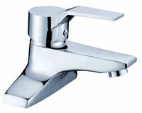Dual Hole Hot and Cold Basin Faucet  Brass Chrome Plating Basin Mixer Tap Free shipping 01221