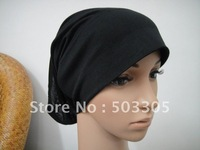 Ms12031720 free shipping cotton-polyester lengthen full-open muslim inner caps,inner caps,muslim hats,islamic hats,muslim hijab