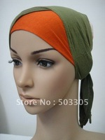 Ms12031722 free shipping two-tone cotton half-head muslim inner hats,inner caps,muslim hats,islamic hats,hot scarf,hijab,scarves