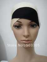 Ms12031722 free shipping two-tone cotton half-head muslim inner hats,inner caps,muslim hats,islamic hats,scarf,hot hijab,scarves