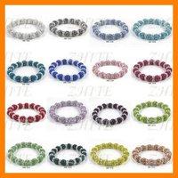 Free Shipping Free Shipping Hot Jewelry Charm Shamballa Clay Crystal Beads Colorful Costume Size Adjustable Bracelet SHB-1520
