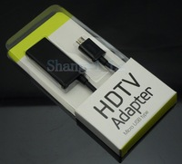 15pcs/lot MHL Micro USB to HDMI Cable HDTV Adapter for Samsung Galaxy S2 i9100 free shipping