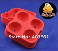 Promotional Ice Tray 3D ball Shape silicone soap mold siicone mold cake pudding chocolate candle mould handmade soap form